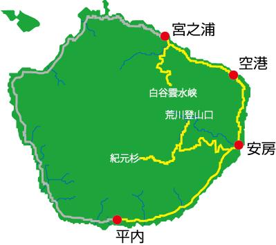 屋久島バス路線図